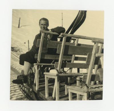 Miloš Crnjanski na zimovanju