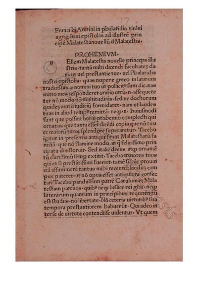 Epistolae per Franciscum Aretinum latine translatae