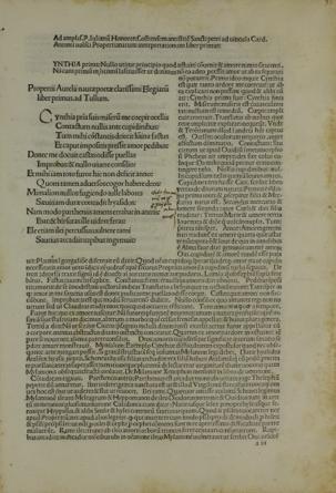Carmina cum commentario (Propertius)
