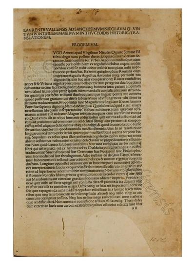 Historia Belli Peloponesiaci latine a Laurentio Valla facta