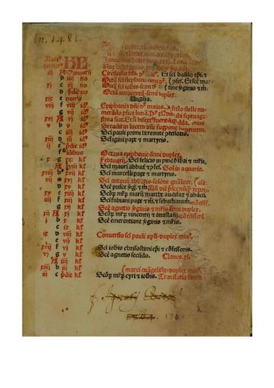 Missale secundum consuetudinem curiae romanae
