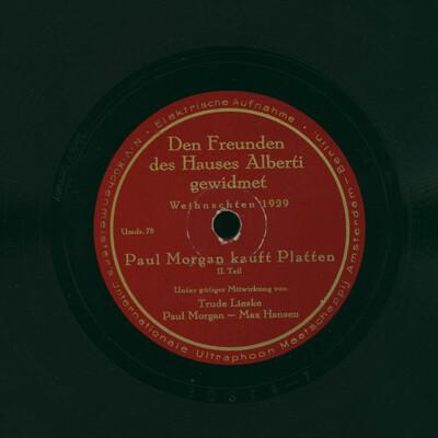 Paul Morgan kauft Platten, 2. Teil