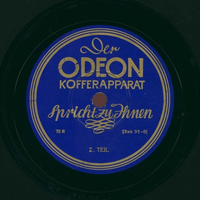 Der Odeon Kofferapparat spricht zu Ihnen, 2. Teil