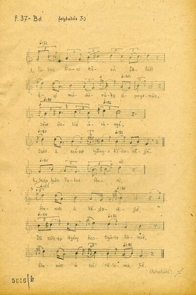 Original notes of 'Segélj el, Uram Isten  (Gathering of evergreen)' Page 2 - ZTI_Lsz_5616b