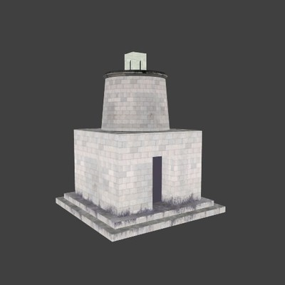 Reconstruction of the mausoleum-tower along the Via Flaminia