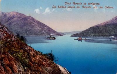 Otoci Perasta sa verigama = Die beiden Inseln bei Perasto mit der Catene
