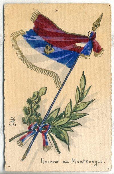 Honneur au Montenegro : carte postale