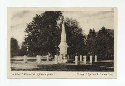 Цетиње : Споменик жртвам рата = Cetinje : Spomenik žrtvam rata / снимио Ђорђе Грузинцев.