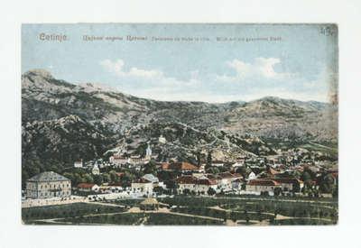 Cetinje : Цијела варош Цетиње = Panorama de toute lá ville = Blick auf die gesammte Stadt
