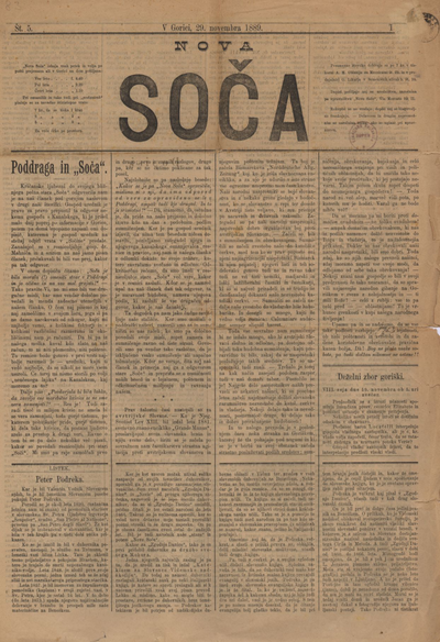 Nova Soča 1889 11 29