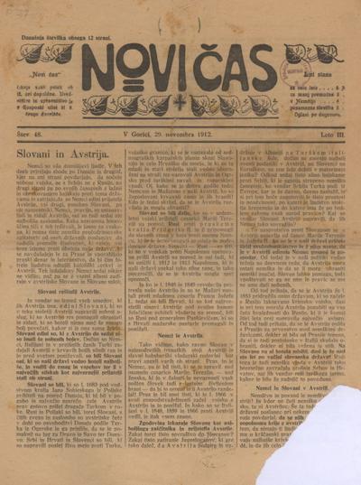 Novi čas 1912 11 29
