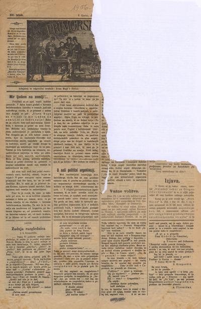 Primorski list: poučljiv list za slovensko ljudstvo na Primorskem 1906