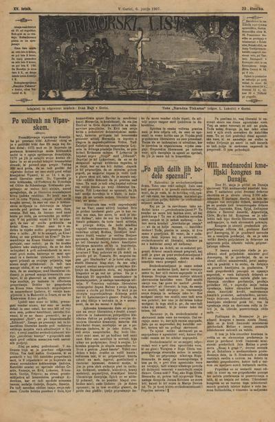 Primorski list: poučljiv list za slovensko ljudstvo na Primorskem 1907 06 06