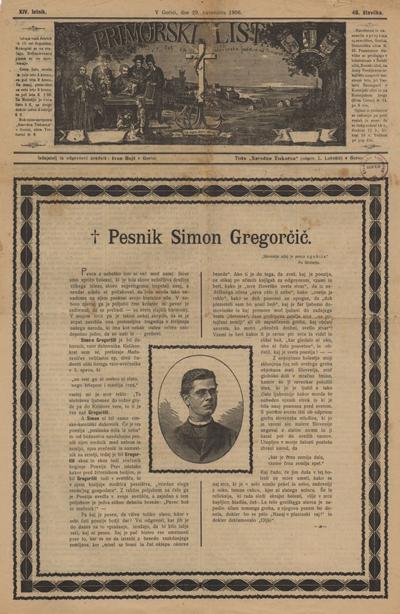 Primorski list: poučljiv list za slovensko ljudstvo na Primorskem 1906 11 29