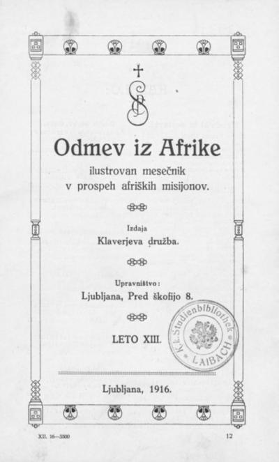 Odmev iz Afrike 1916