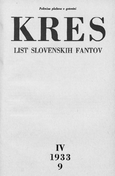 Kres; list slovesnkih fantov 1933