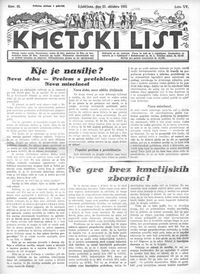 Kmetski list 1933 10 25