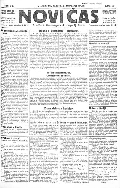 Novi čas; glasilo krščanskega delovnega ljudstva 1922 02 11