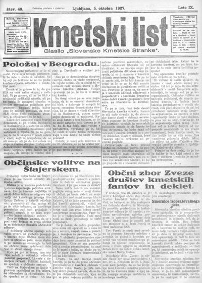 Kmetski list 1927 10 05