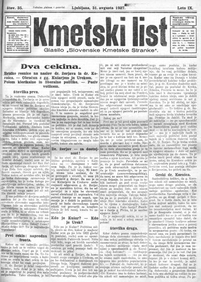 Kmetski list 1927 08 31