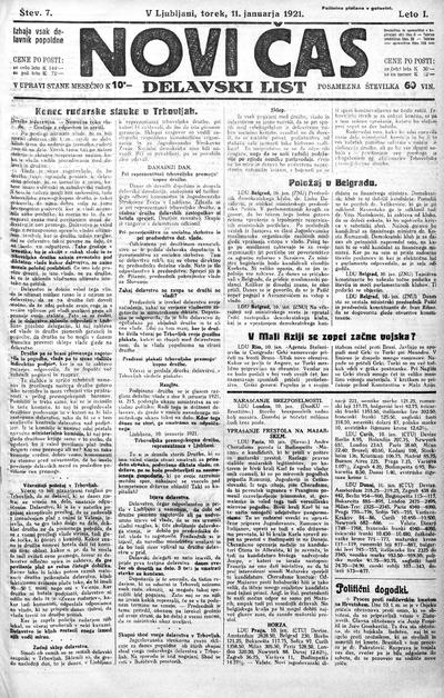 Novi čas; delavski list 1921 01 11