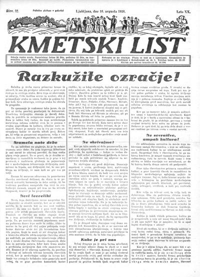 Kmetski list 1938 08 10