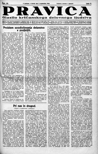 Pravica; glasilo krščanskega delovnega ljudstva 1926 09 02