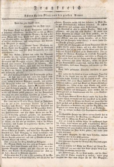 Bericht von der Grosen Armee; Frankreich 1812