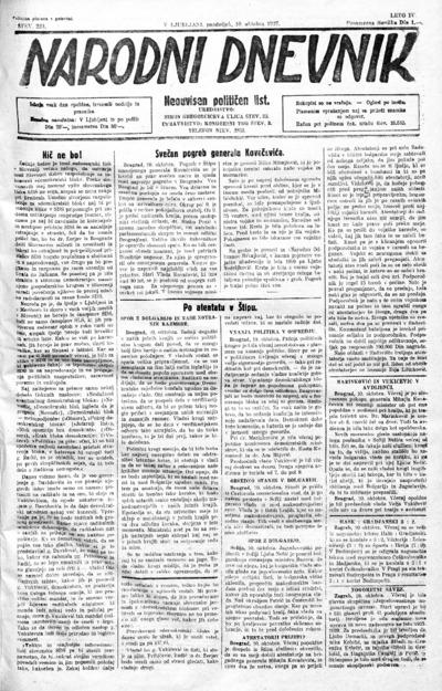 Narodni dnevnik 1927 10 10