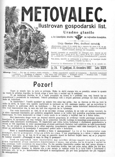 Kmetovalec: gospodarski list s podobami 1907 12 31