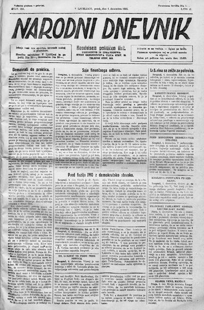 Narodni dnevnik 1925 12 04