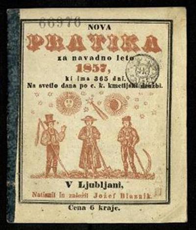 Nova pratika; Za navadno leto 1857