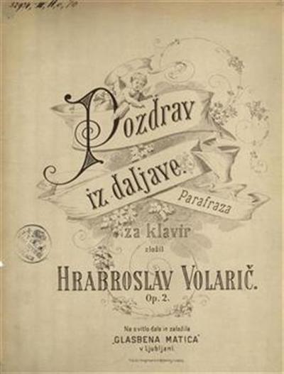 Pozdrav iz daljave; parafraza za klavir, op. 2