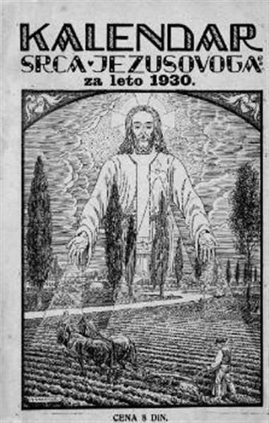 Nájszvetejsega Szrca Jezusovoga veliki kalendár za lüdsztvo