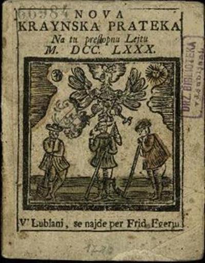 Nova crainska pratica; Na to preßtopnu lejtu 1780