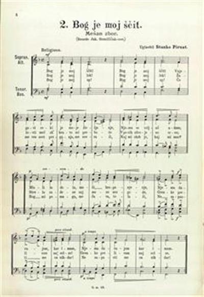 Bog je moj ščit; mešan zbor