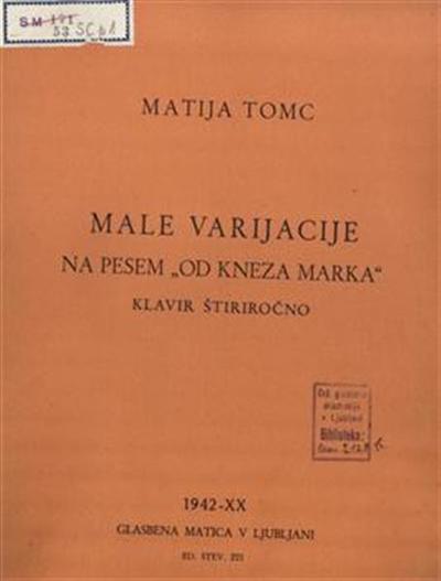 Male varijacije na pesem