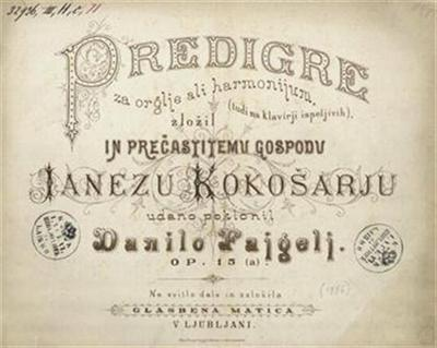 Predigre za orglje ali harmonijum (tudi na klavirji ispeljivih), op. 15 (a)