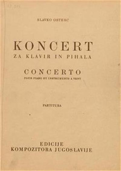 Koncert za klavir in pihala; Concerto pour piano et instrumentes a vent
