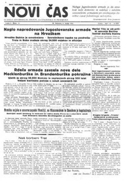 Novi čas; glasilo Osvobodilne fronte za Štajersko in Prekmurje