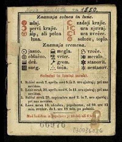 Nova pratika; za 1850