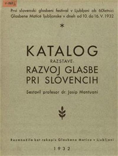 Razvoj glasbe pri Slovencih; katalog razstave
