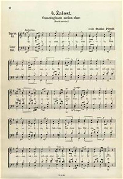 Žalost; osmeroglasen mešan zbor (besede narodne)
