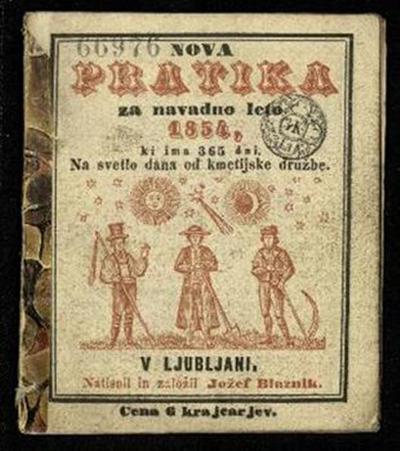 Nova pratika; Za navadno leto 1854