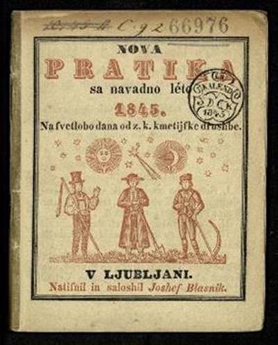 Nova pratika; Sa navadno leto 1845