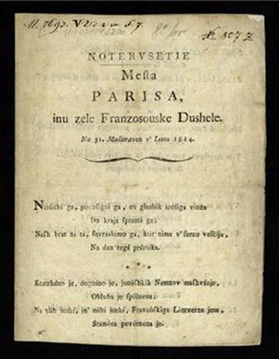 Notervsetje mesta Parisa, inu zele Franzosouske dushele; na 31. malitraven v' lettu 1814