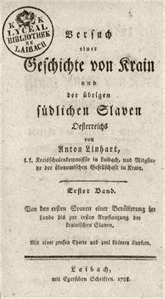 Versuch einer Geschichte von Krain und der übrigen südlichen Slaven Oesterreichs