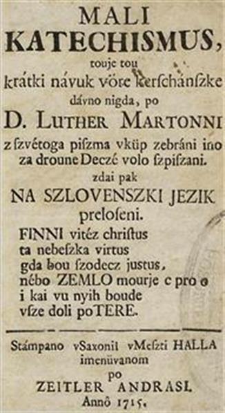 Mali katechismus, touje tou krátki návuk vöre kerschánszke