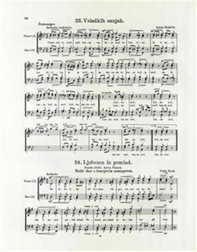 Ljubezen in pomlad; moški zbor s tenorjevim samospevom