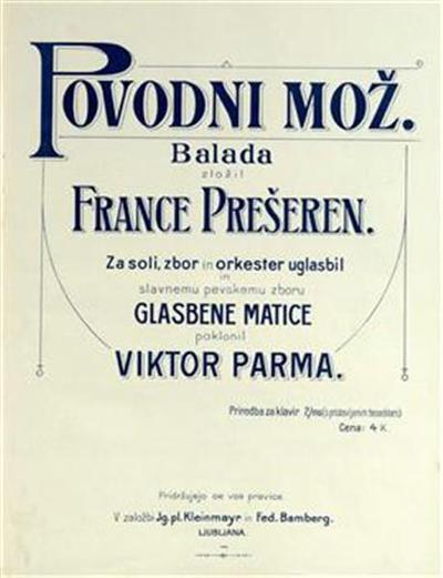 Povodni mož; balada; priredba za klavir 2/ms (s pristavljenim besedilom)